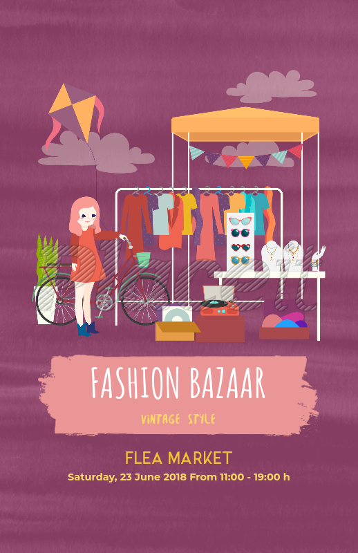 Online Flyer Maker For A Flea Market 200a