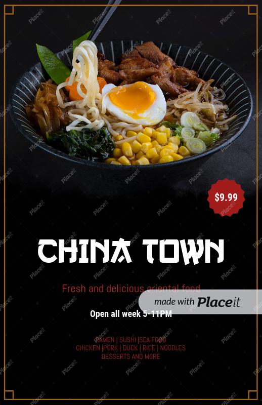 placeit flyer maker for asian restaurants