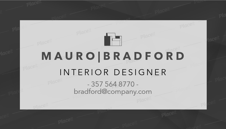 interior designer business card template with minimalist style 243dforeground image - Interior Design Business Cards