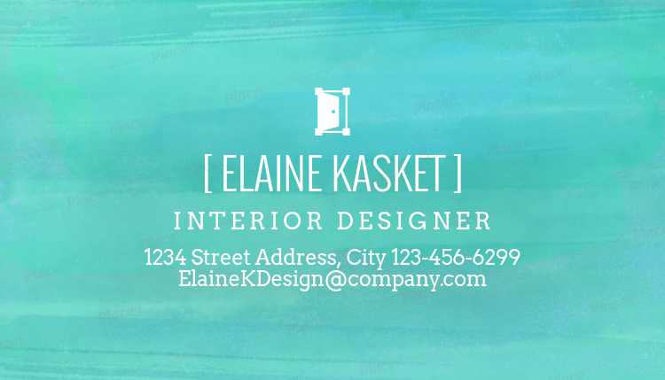 placeit watercolor business card maker for interior designers