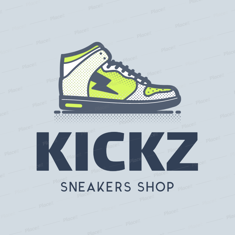 Logo Template for Online Sneaker Stores