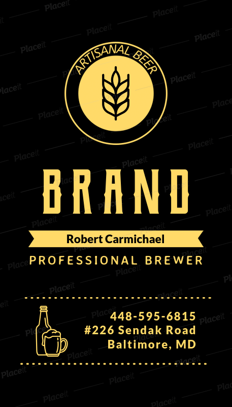 Placeit vertical business card template for craft beer and brewers vertical business card template for craft beer and brewers 261aforeground image cheaphphosting Gallery