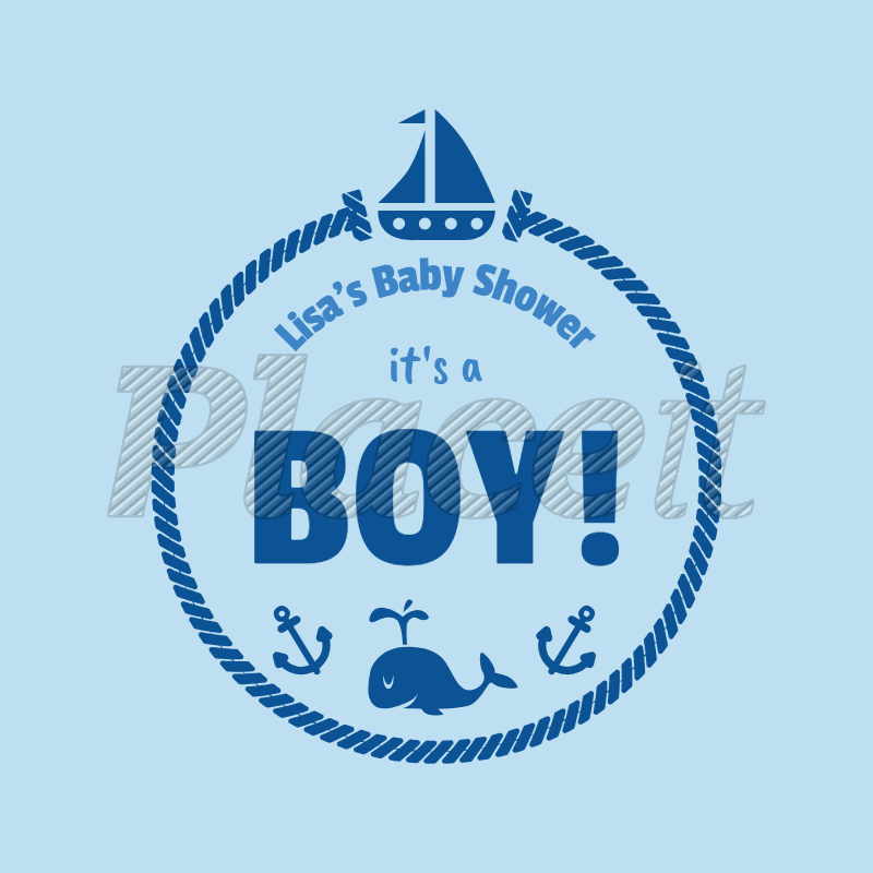 placeit it s a boy t shirt design template