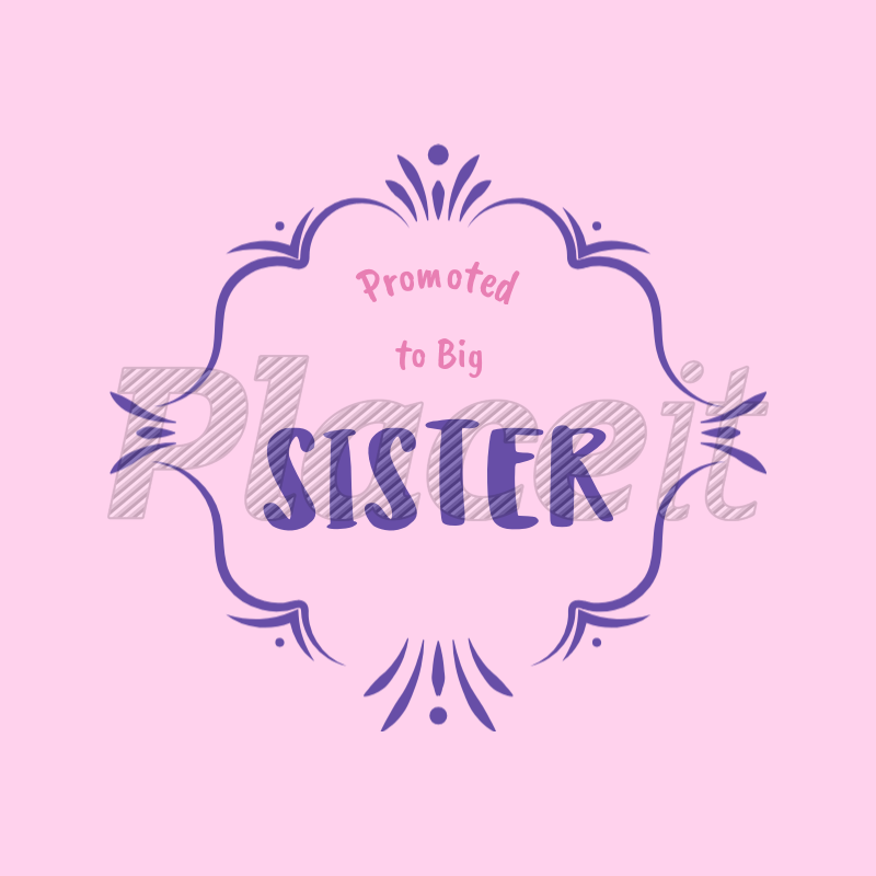 Placeit - Big Sister T-Shirt Template