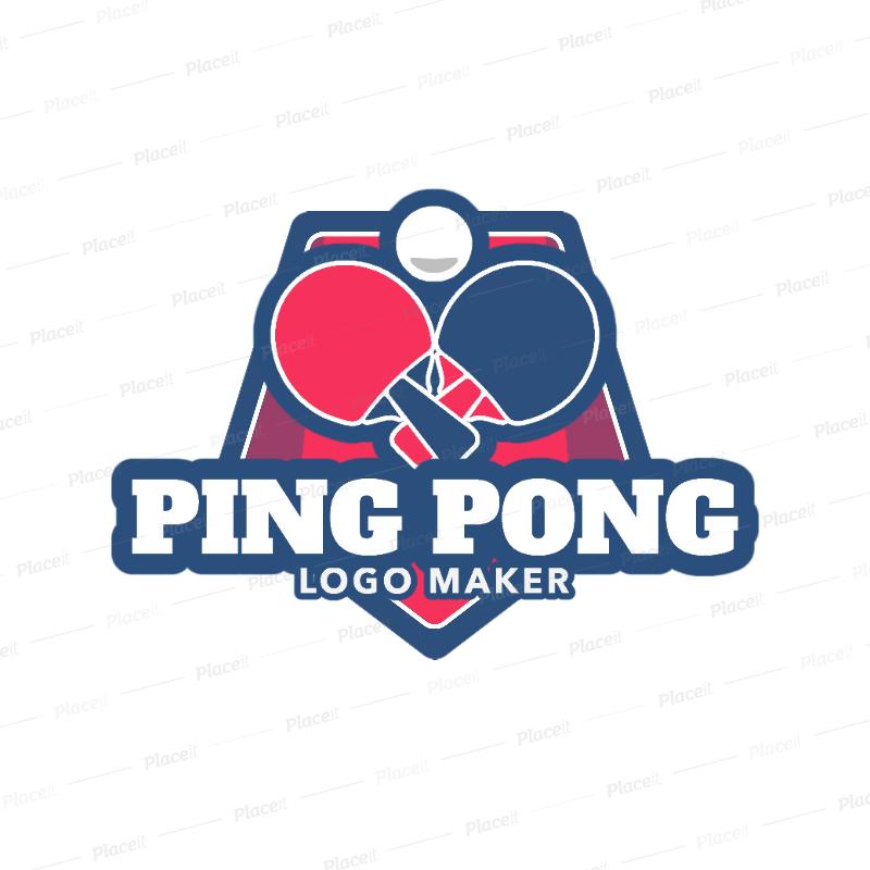 Simple Ping Pong Logo Maker 1625