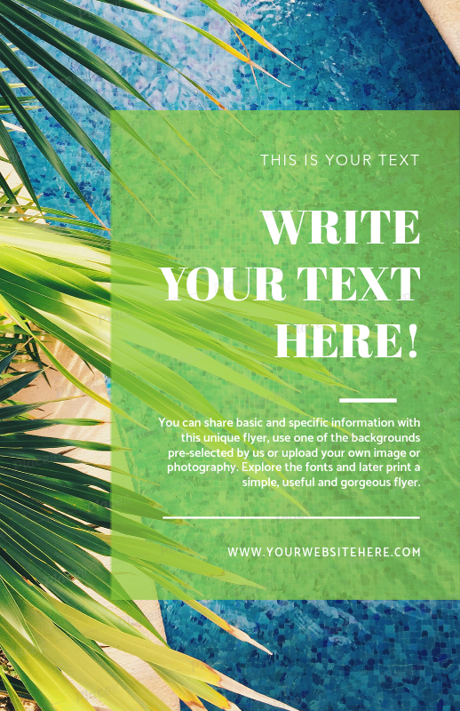 placeit online flyer maker with tropical theme