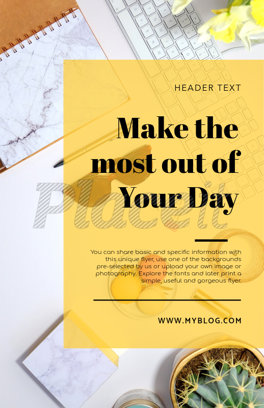 placeit online flyer maker for a writer with desk workspace