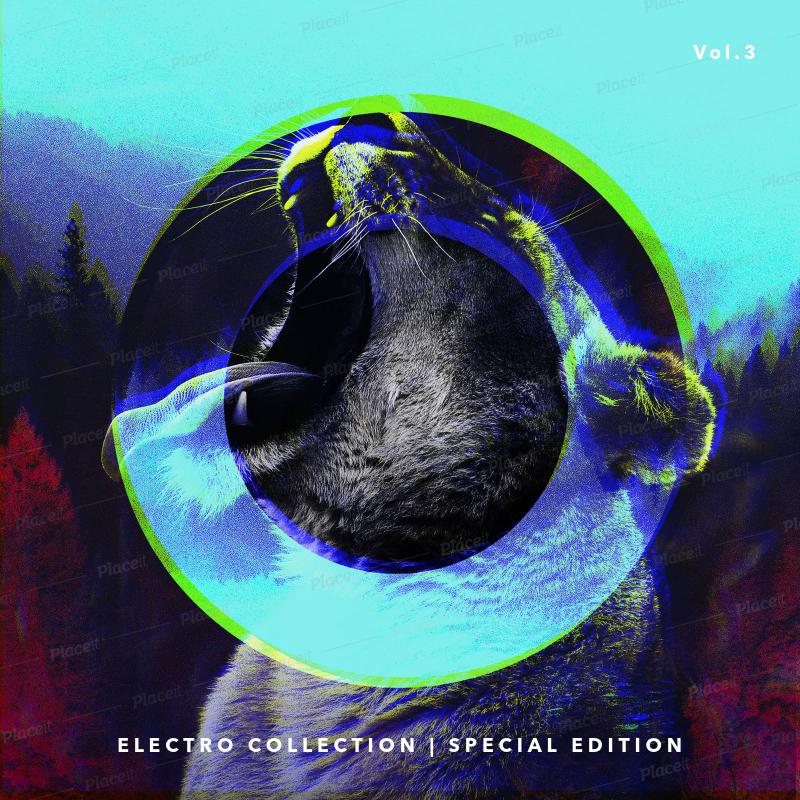 Placeit - Electro-Music Album Design Template
