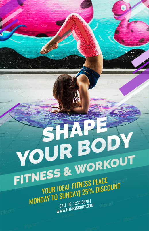 Placeit Fitness Related Flyer Maker For A Yoga Class