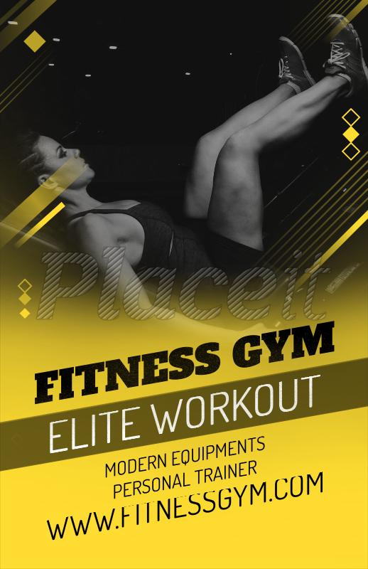 placeit fitness online flyer maker