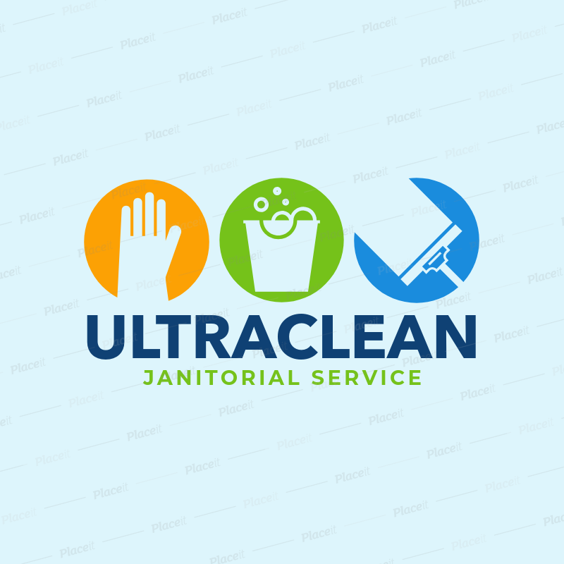 placeit logo generator for janitorial services