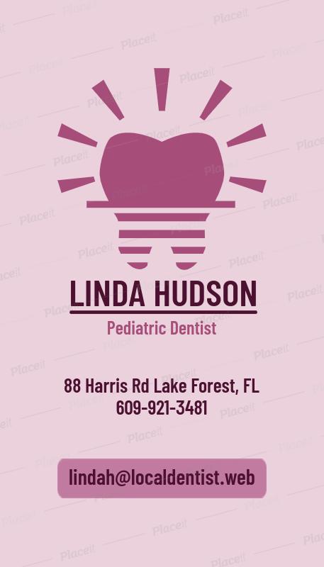 pediatric dentist business card maker 490bforeground image - Dentist Business Card