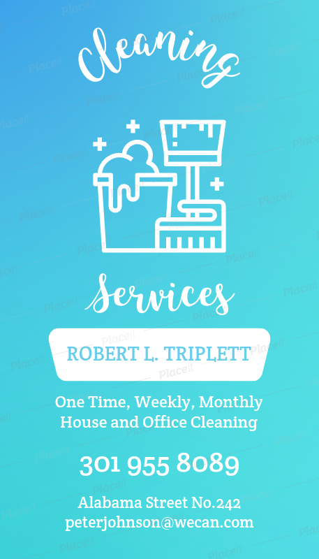Placeit business card template for cleaning services with vertical cleaning services business card maker a164foreground image cheaphphosting Gallery