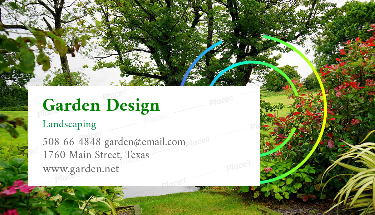 Placeit landscaping design business card maker landscaping design business card template 644foreground image friedricerecipe Gallery