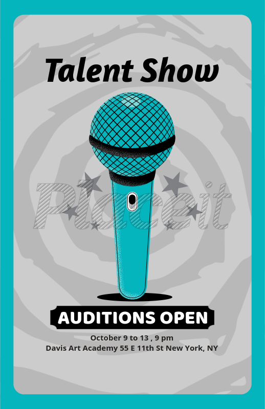placeit flyer maker for talent show auditions