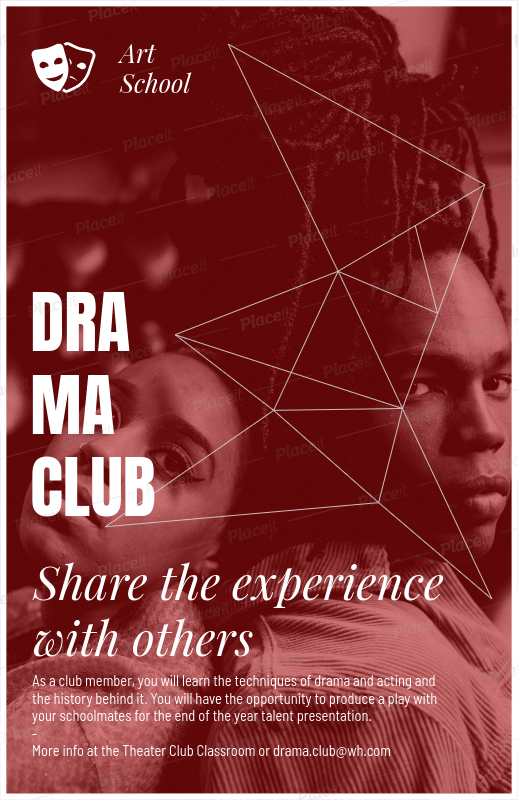 Placeit - High School Drama Club Flyer Maker
