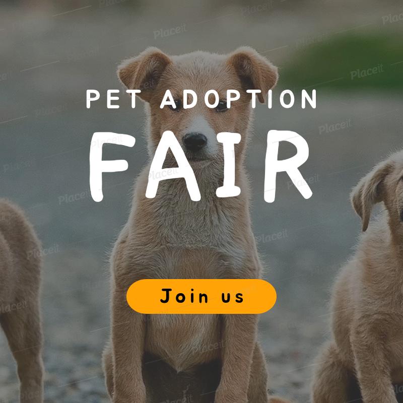 Placeit Online Banner Generator For A Pet Adoption Fair