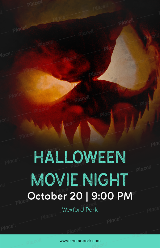 placeit halloween movie night online flyer maker