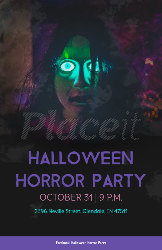 placeit halloween party online flyer maker