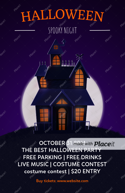 placeit flyer template to design halloween party flyers