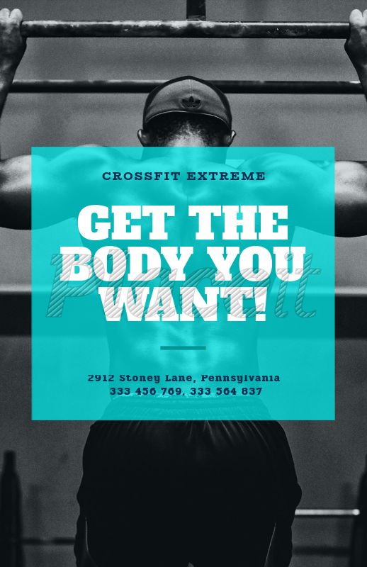 Online Flyer Maker For A Crossfit Gym 352cForeground Image