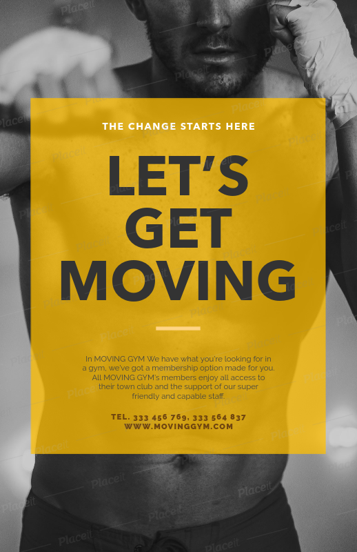 placeit flyer maker to design gym flyers