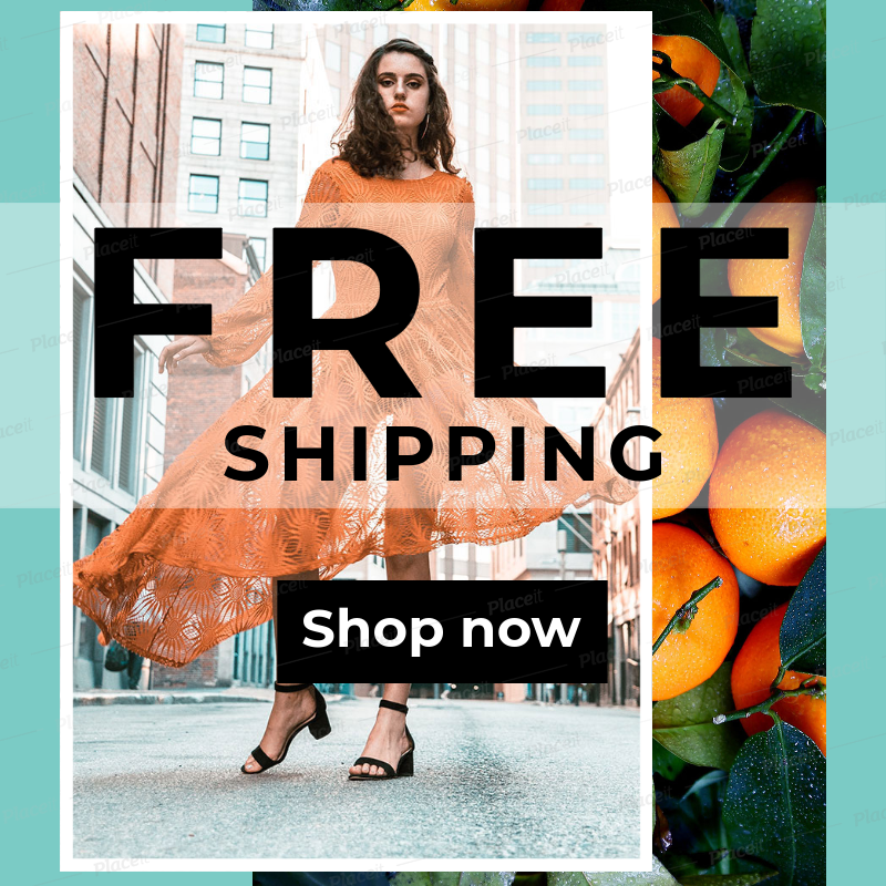placeit ad maker for online clothing store