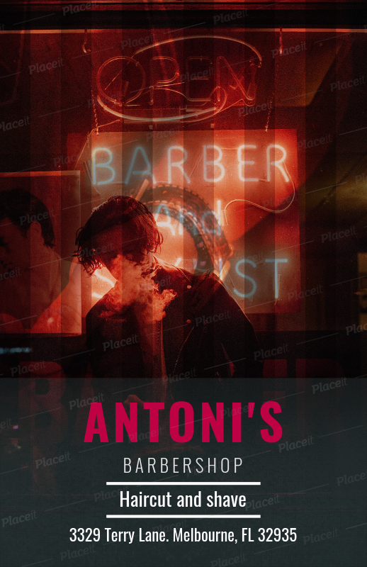 placeit flyer template for barber shop flyers