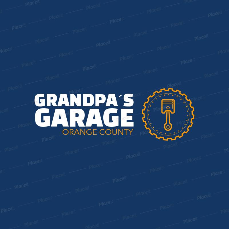 placeit motor garage logo template