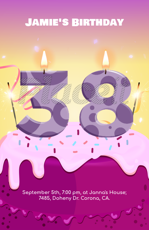 birthday party flyer maker with customizable numbers 233aforeground image