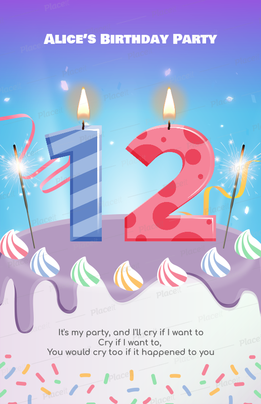 placeit flyer maker for birthday party flyers