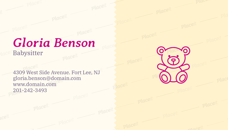 Placeit business card maker app for babysitter with teddy bear images business card maker app for babysitter with teddy bear images 355dforeground image colourmoves