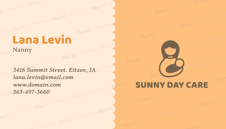 Placeit business card maker with solid color background with baby business card maker with solid color background with baby icons 355eforeground image reheart Image collections