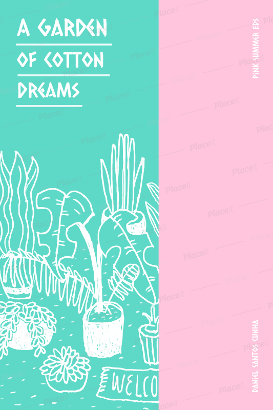 Colorful Poetry Book Cover Template With Hipster Vibes