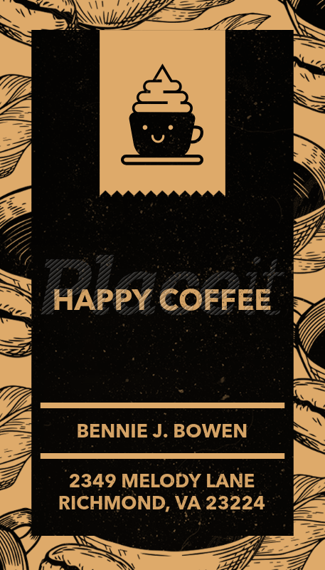 Placeit coffee roaster business card maker coffee roaster business card maker 36aforeground image reheart Images
