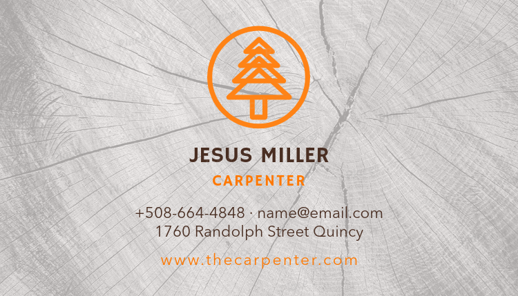 Placeit carpenter business card maker carpenter business card template 491foreground image wajeb Gallery