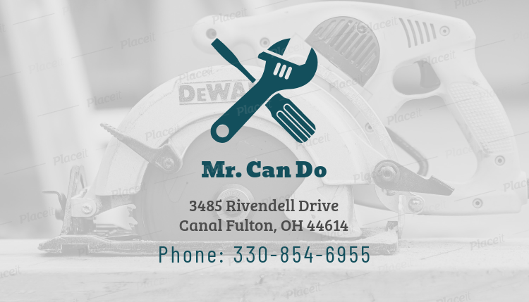 Placeit design custom business card template for handyman design custom business card template for handyman 491eforeground image flashek Image collections
