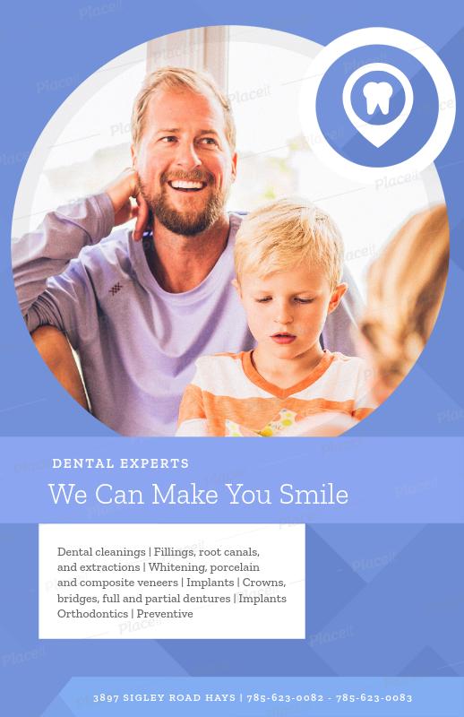 placeit online flyer maker for dental services
