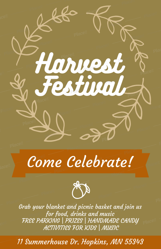 placeit holiday flyer creator for a harvest festival