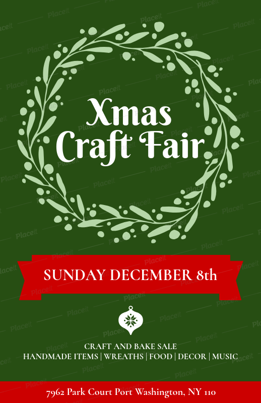 Placeit Christmas Flyer Generator For An Xmas Craft Fair