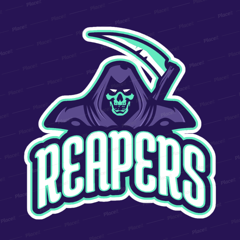 placeit sports logo maker for reapers logos