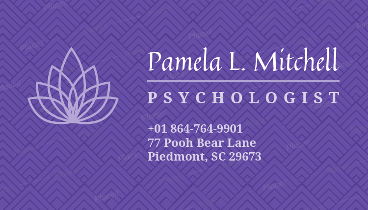 Placeit psychologist business card maker with purple background psychologist business card maker with purple background 189eforeground image colourmoves