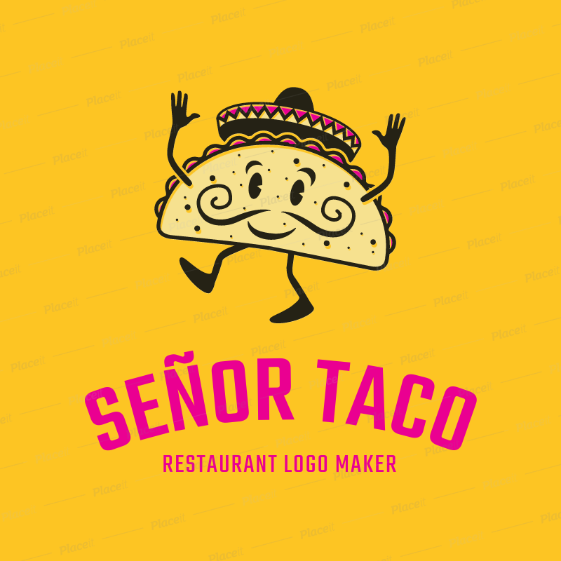 placeit mexican restaurant logo maker with taco graphic rh placeit net mexican restaurant logos ideas mexican restaurant logo design