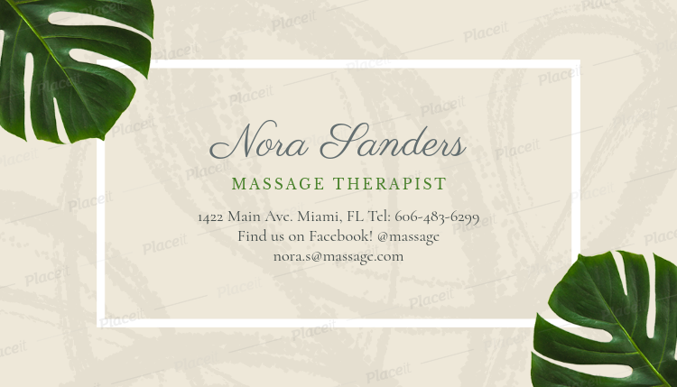 massage therapist business card maker a150foreground image