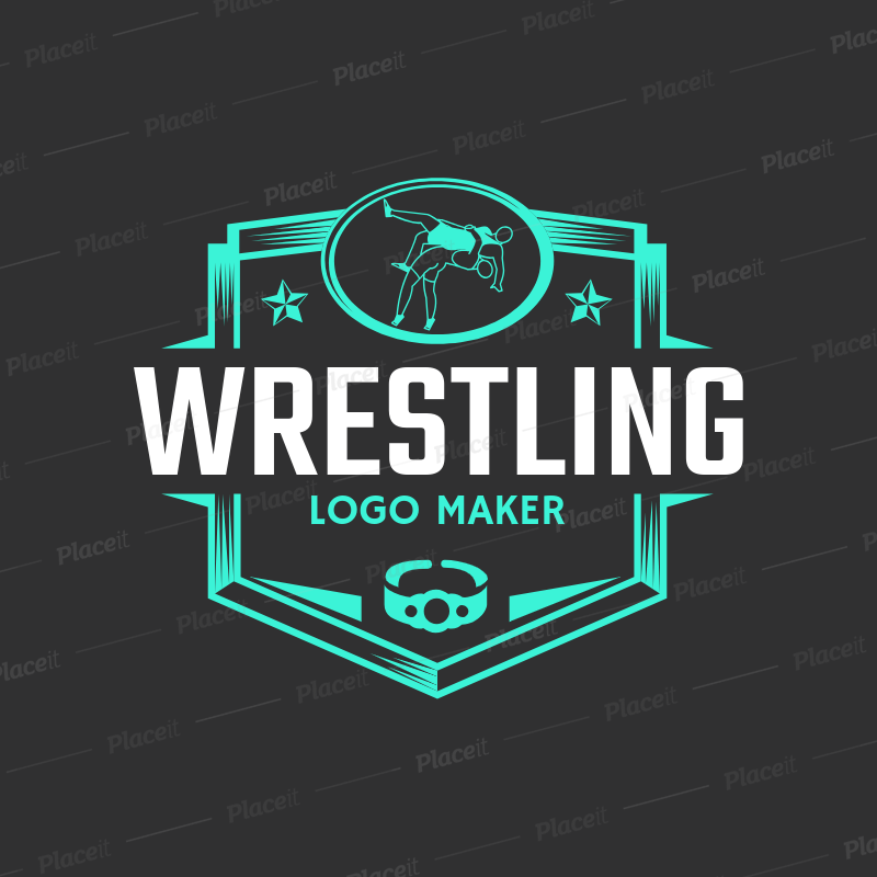 Placeit Wrestling Logo Template