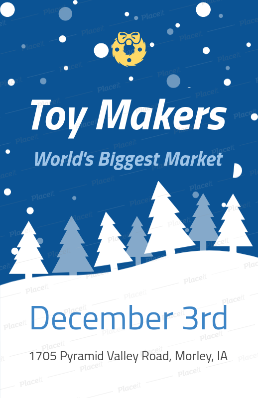 placeit holiday flyer maker for a christmas toy market