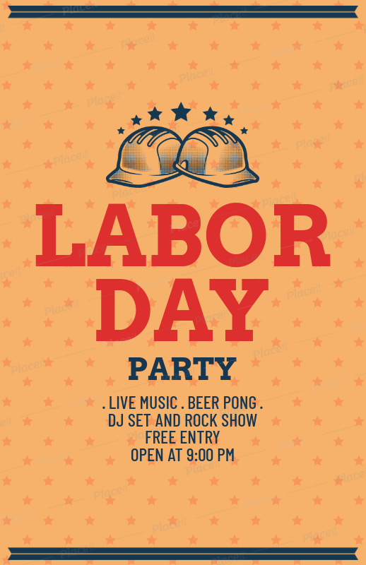 Placeit Labor Day Party Flyer Template
