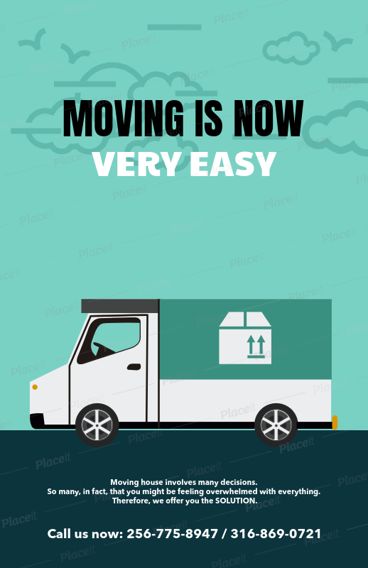 placeit customizable promotional flyer template for moving companies