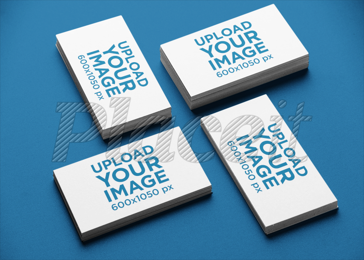 Placeit Business Card Mockup Of Multiple Stacked Cards In A Varied