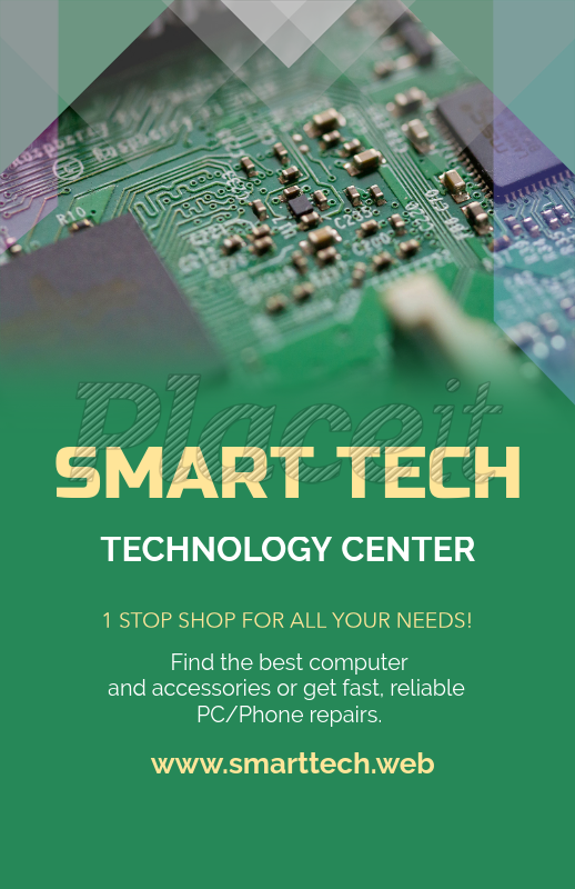 placeit tech shop online flyer maker